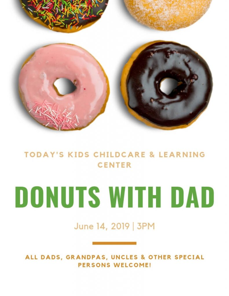 2019 Donuts with Dad Flyer