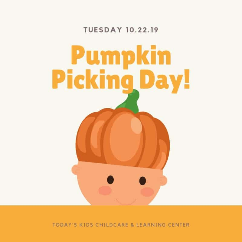 Tuesday October 22, 2019 is Pumpkin Picking Day